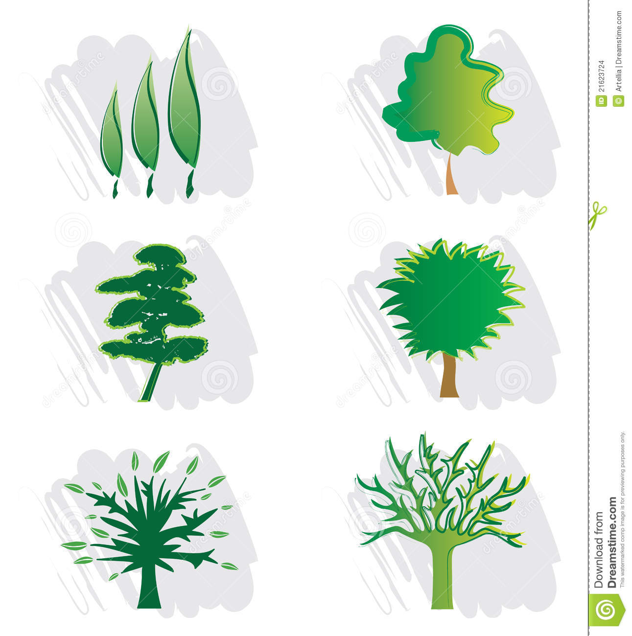 Set of Tree Icons for Logo Design - Nature  Landscape Design and Green    Landscaping Tree Logos