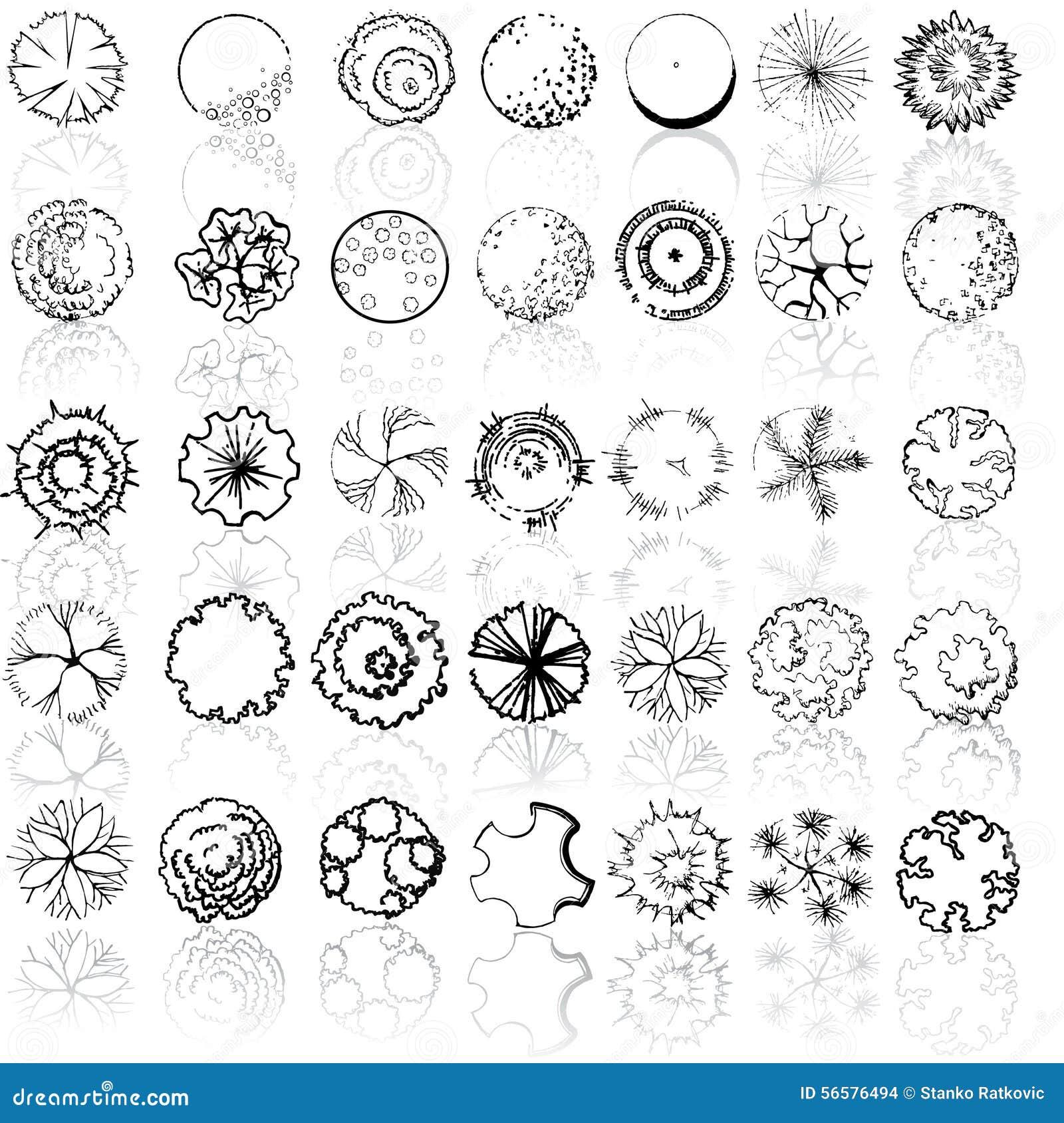A set of treetop symbols stock illustration illustration of a set of treetop symbols for architectural or landscape design malvernweather Images