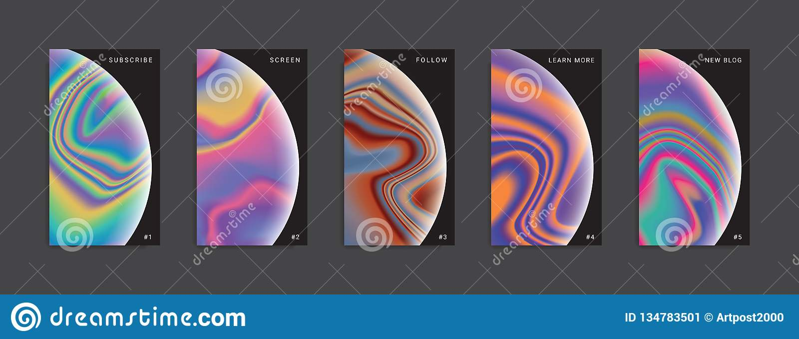 Set of trendy abstract stories templates.