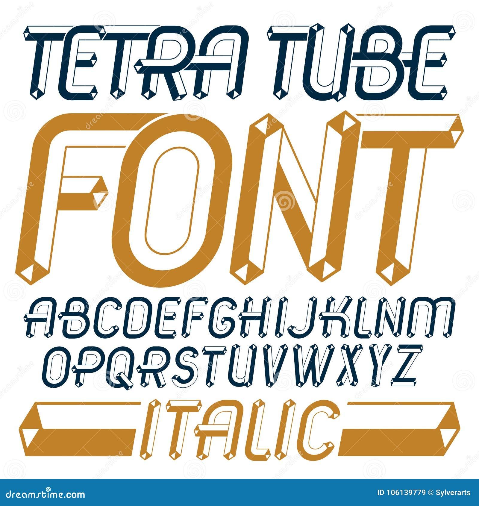 Abc Creation dedans set of trendy fun vector capital english alphabet letters, abc i
