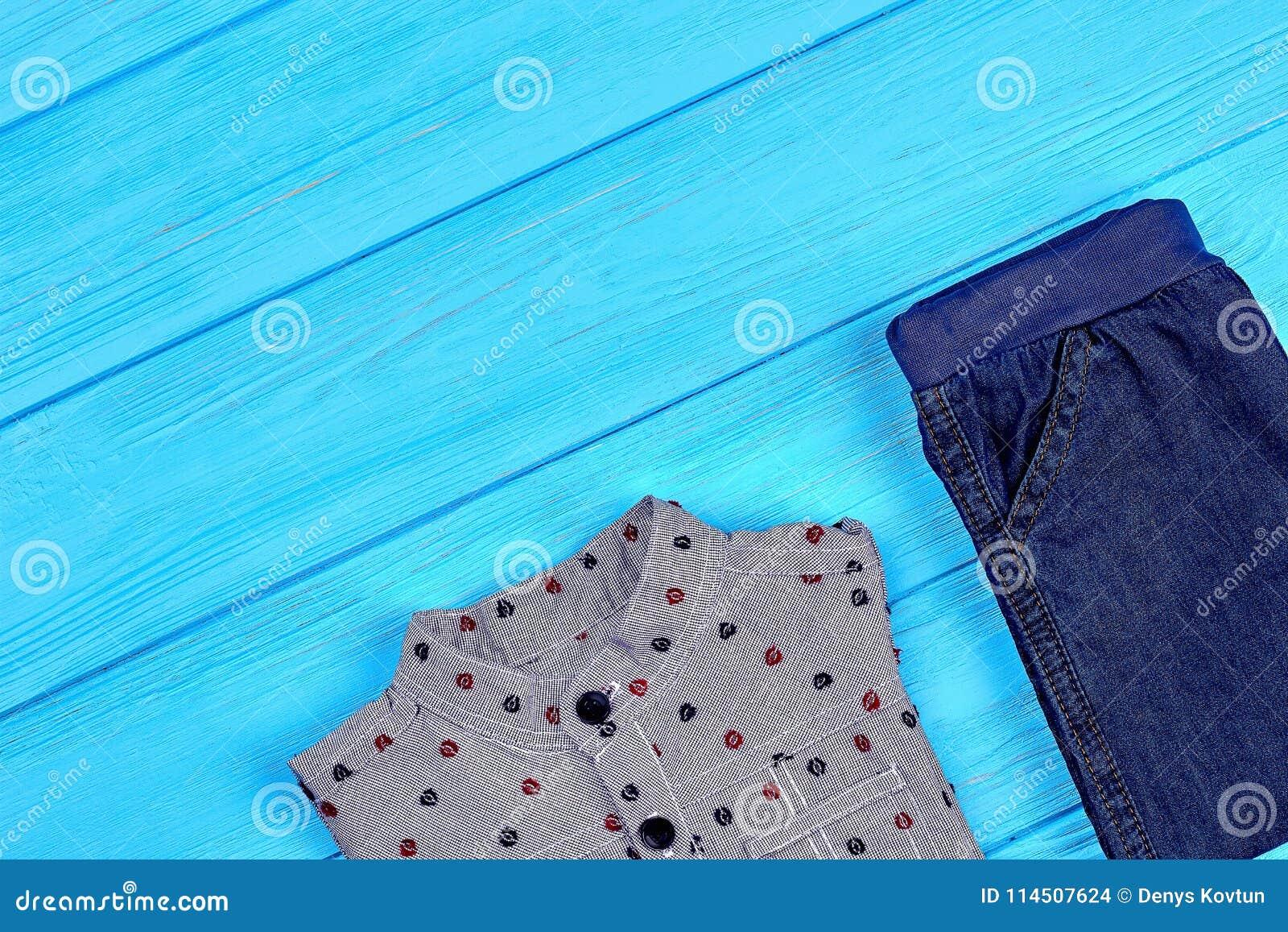 609c5372ef88 Set Of Trendy Garment For Baby-boy. Stock Photo - Image of little ...