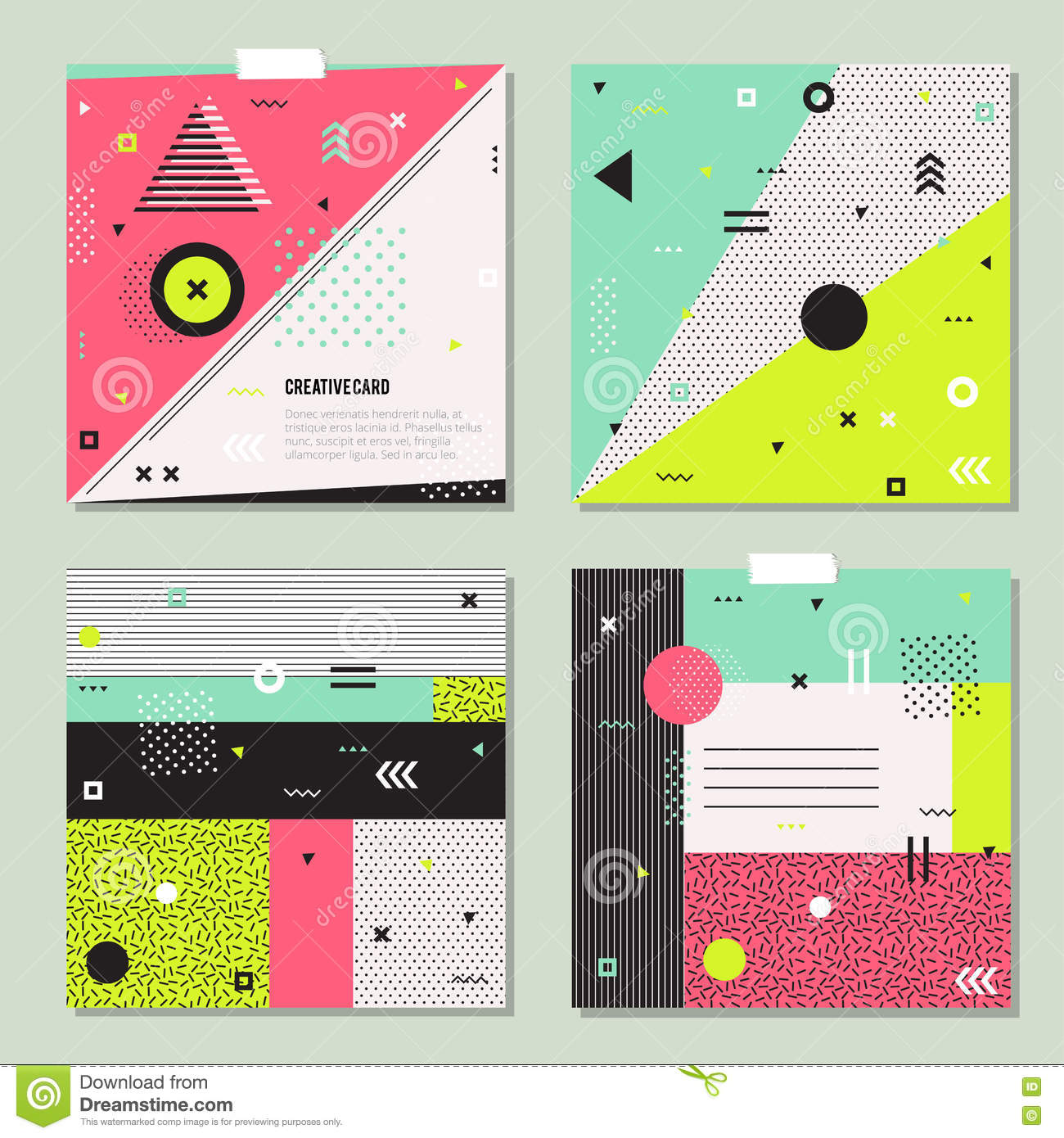 Elements of a poster design - Abstract Card Design Elements