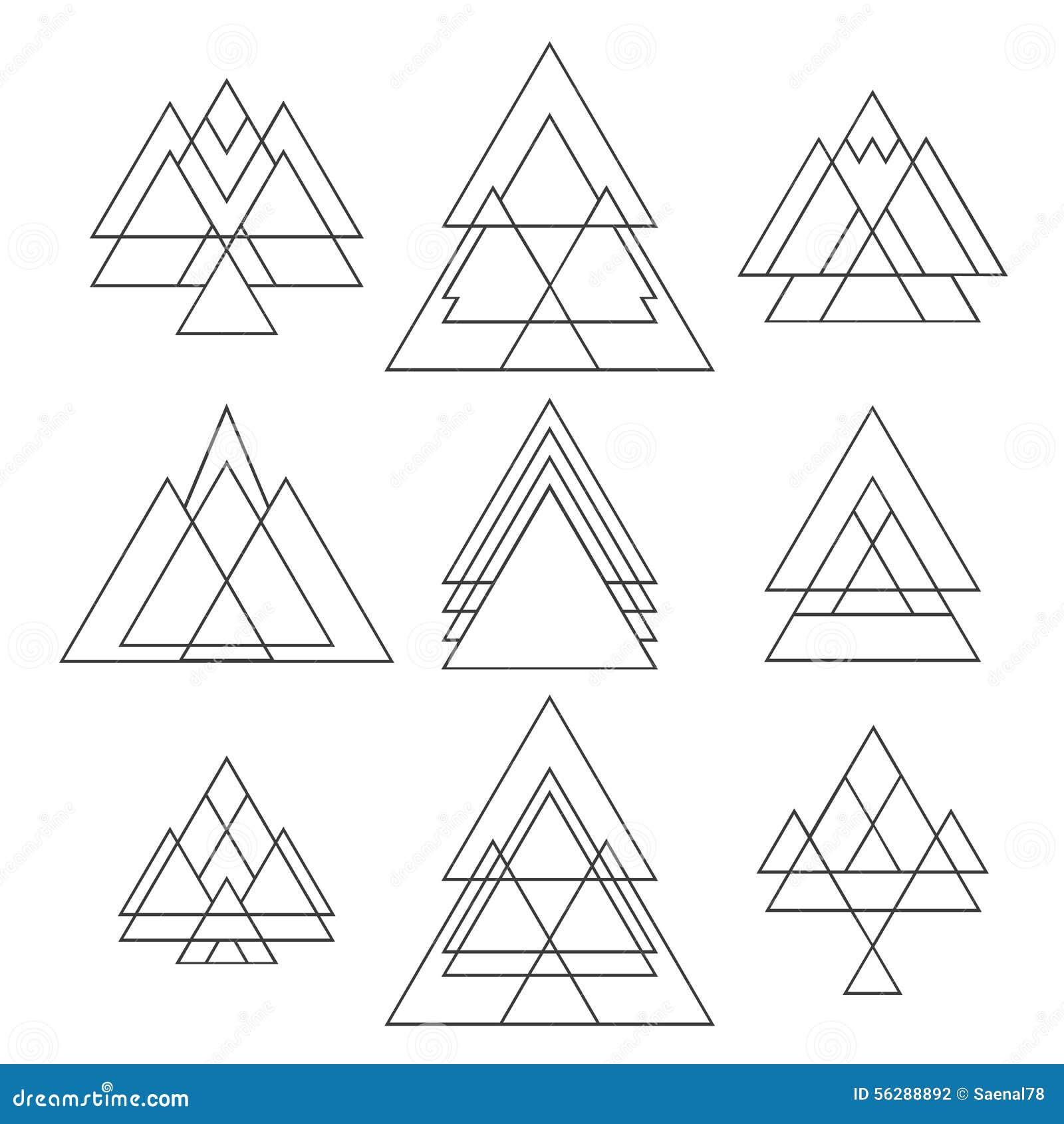 Set Of Trendy Geometric Shapes  Geometric Hipster Logotypes