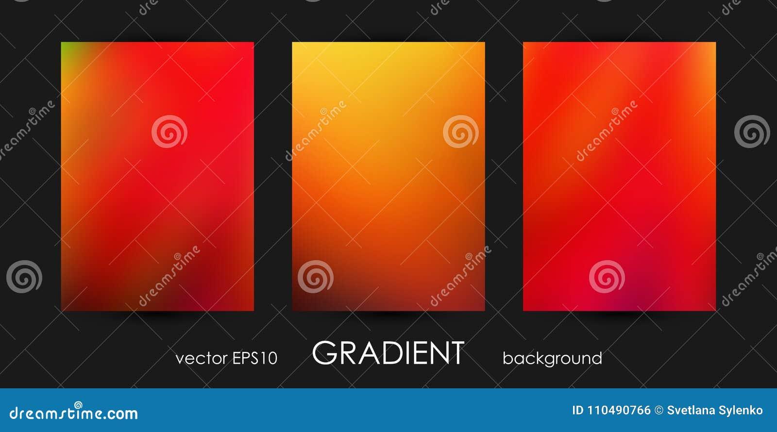 Set Of Trendy Gradient Backgrounds For Cover, Flyer, Brochure ...