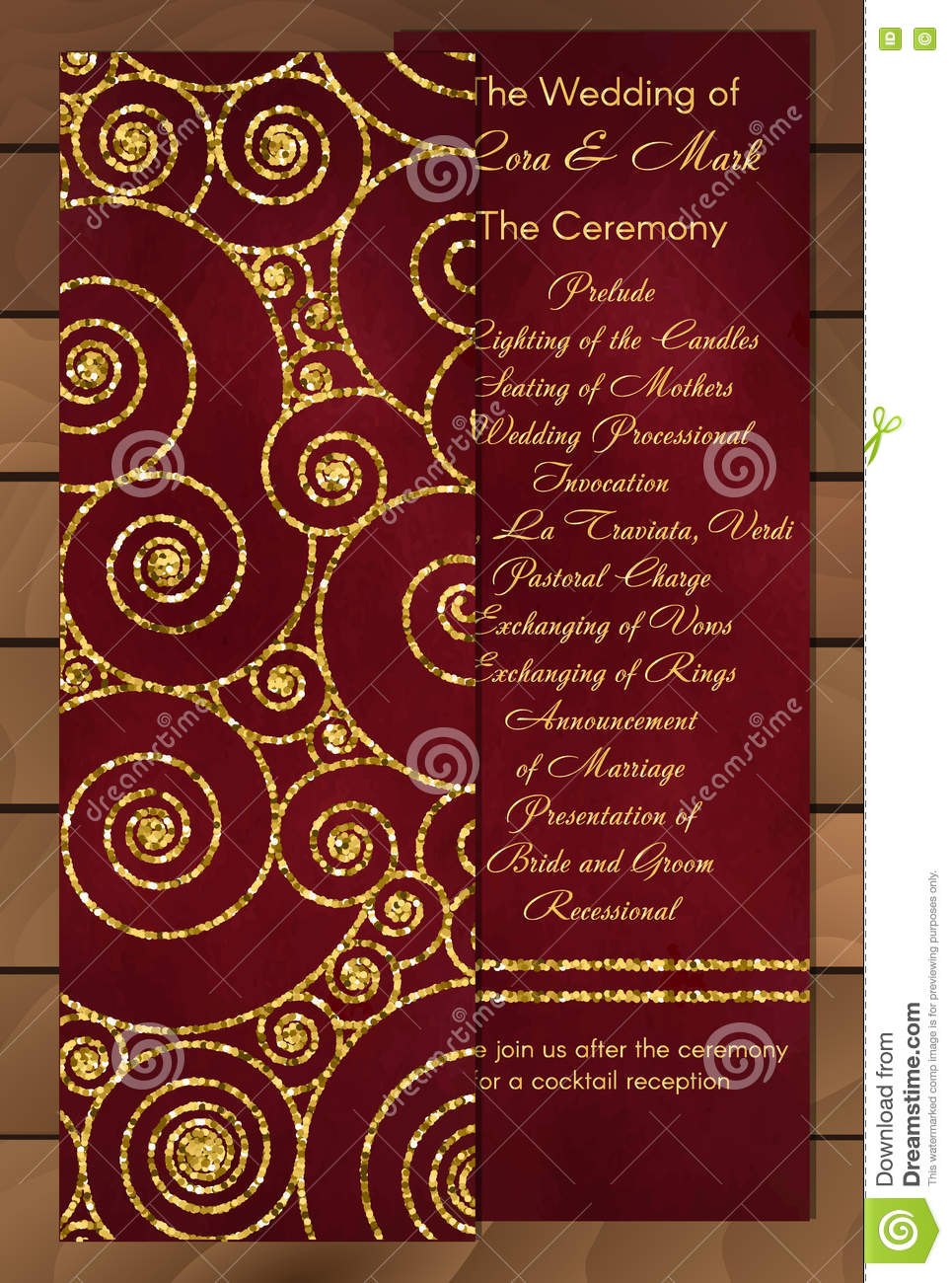 Set Of Trendy Invitations With Gold Glitter Texture. Wedding ...