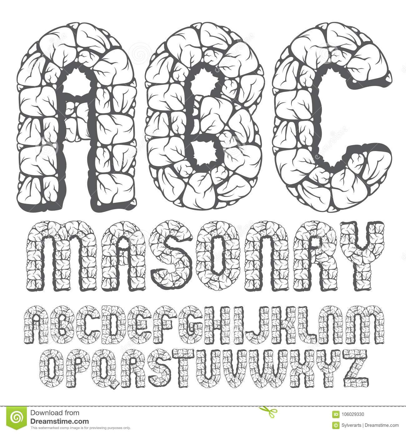 Set Of Trendy Old Vector Capital English Alphabet Letters Abc I