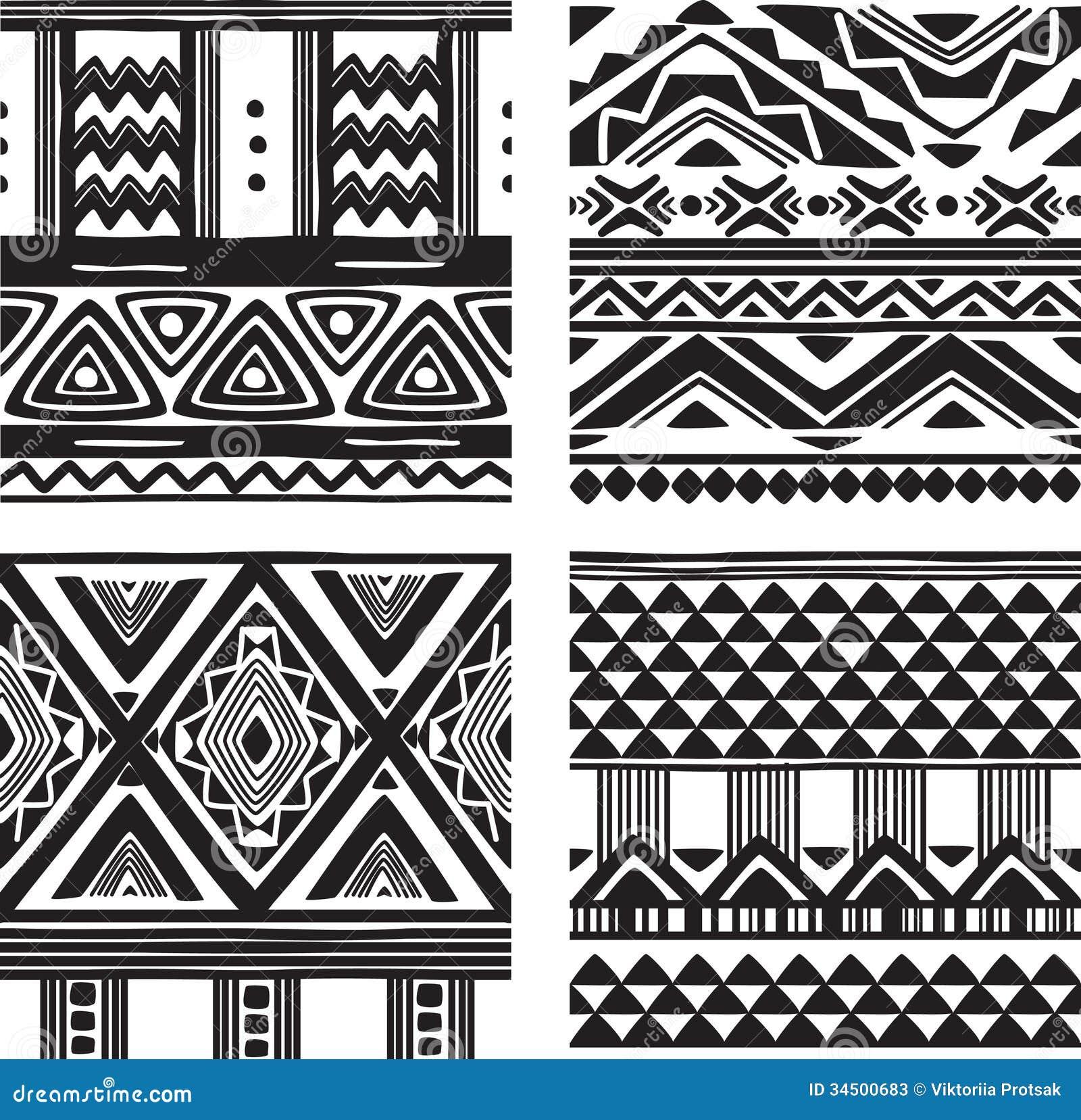 Set Of Tribal Texture Stock Photos - Image: 34500683