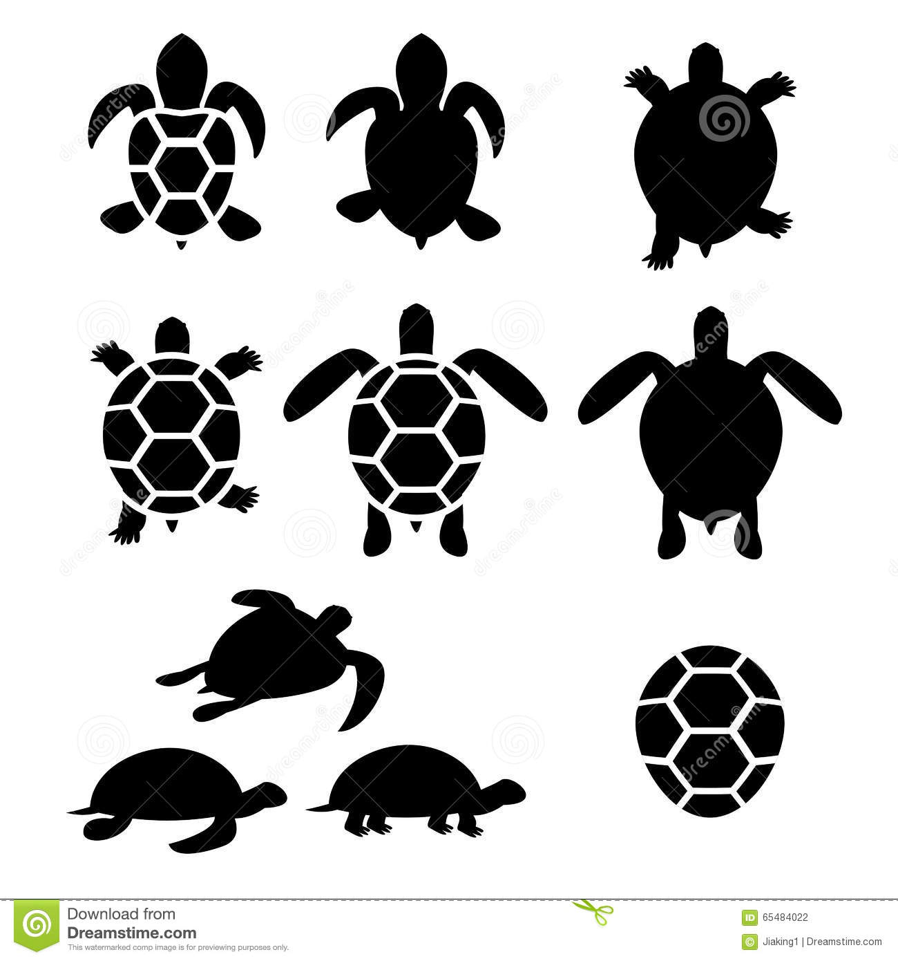 set of turtle and tortoise silhouette stock vector image tortoise clipart images tortoise clipart images