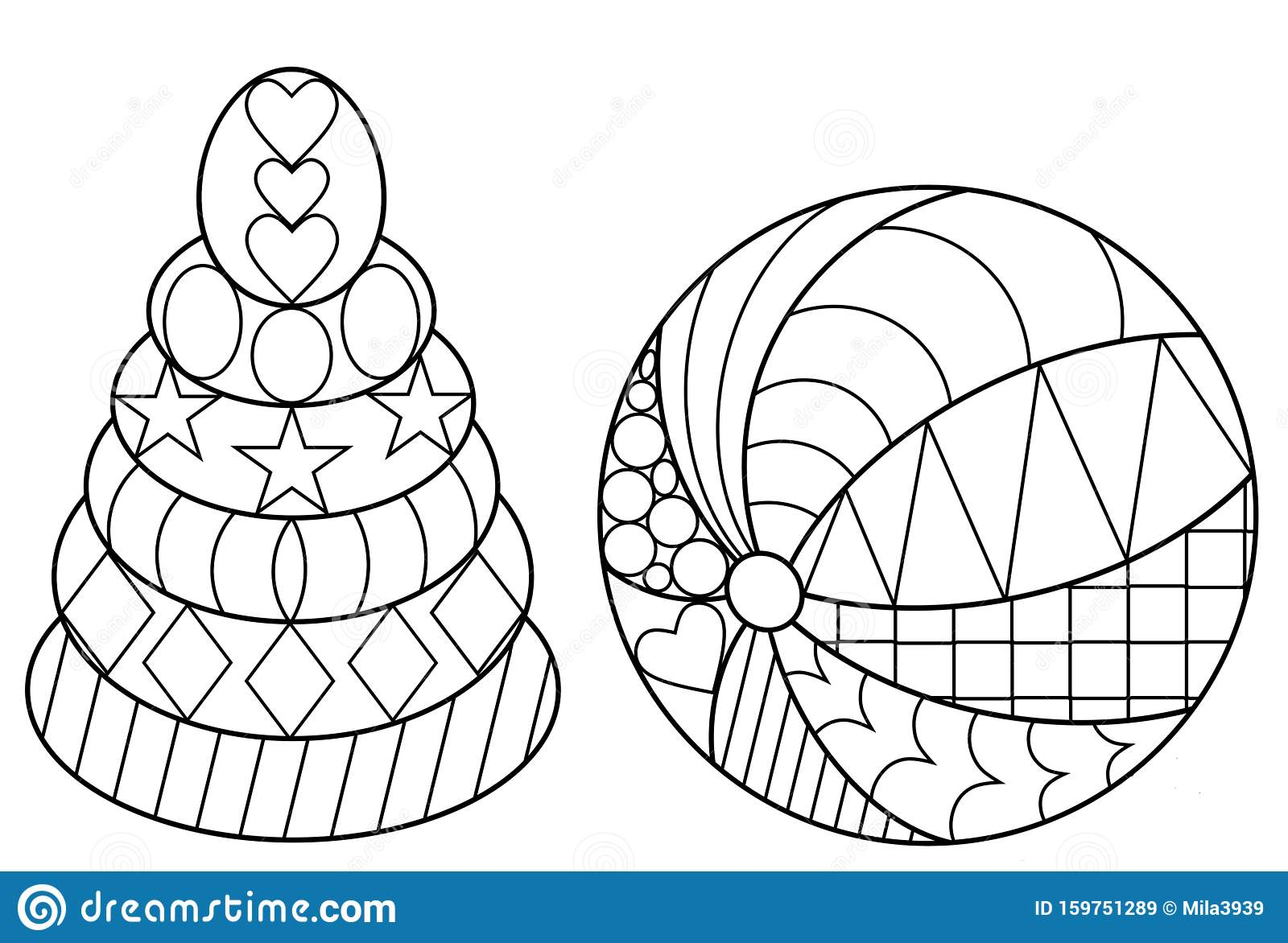 Set Of Two Coloring Pages For Children. Coloring Book With ...