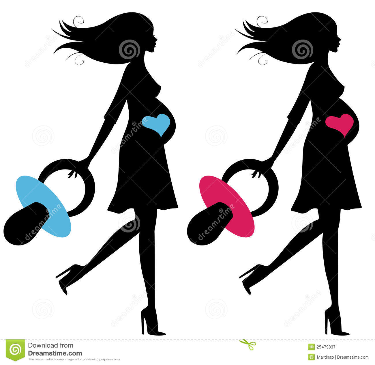 Set Of Two Pregnant Women Royalty Free Stock Photography