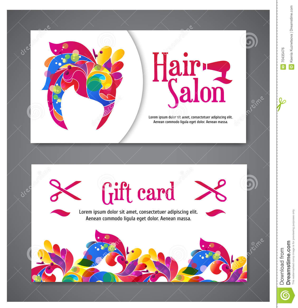 gift card web site templates banner design gift cards business cards set 1115