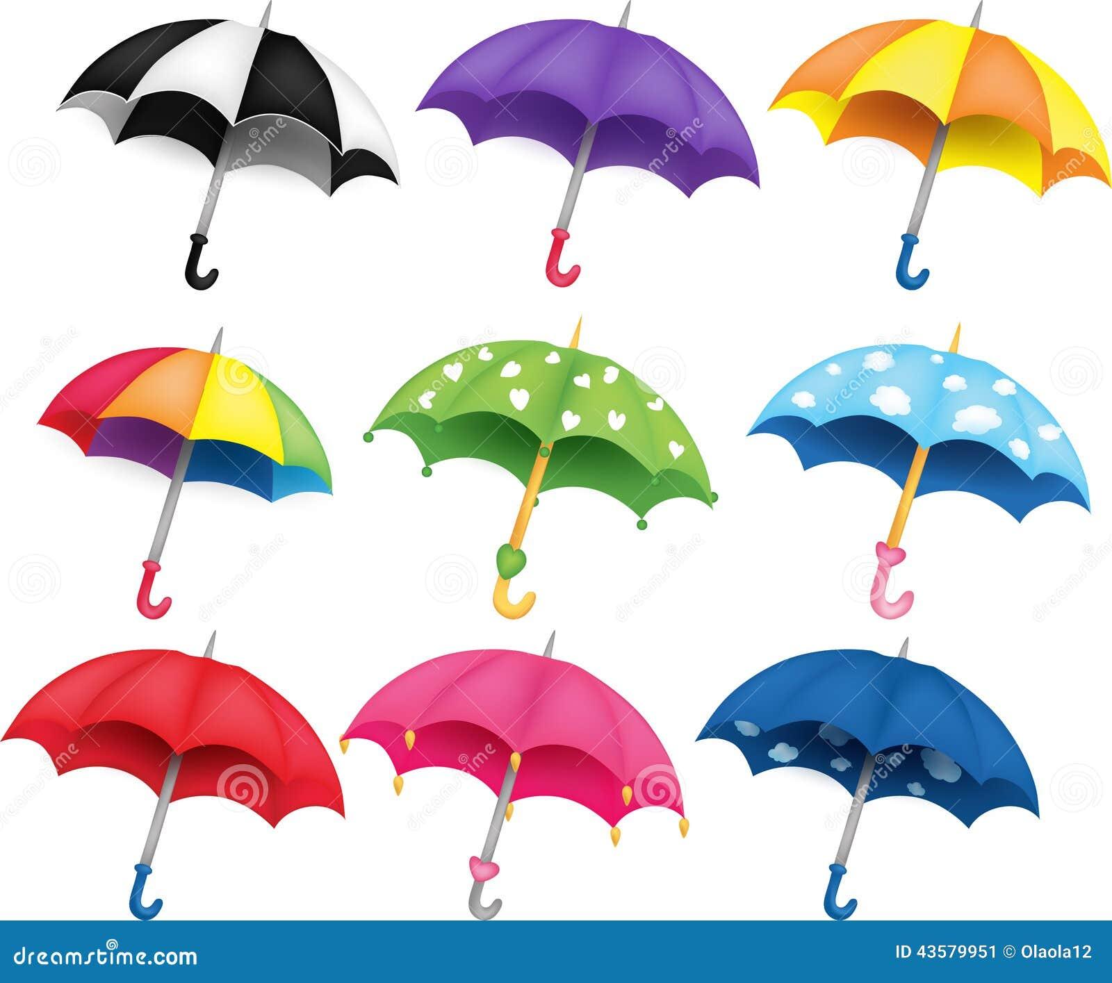 Decorative Pink Border Clip Art Set Of Umbrellas Stock...
