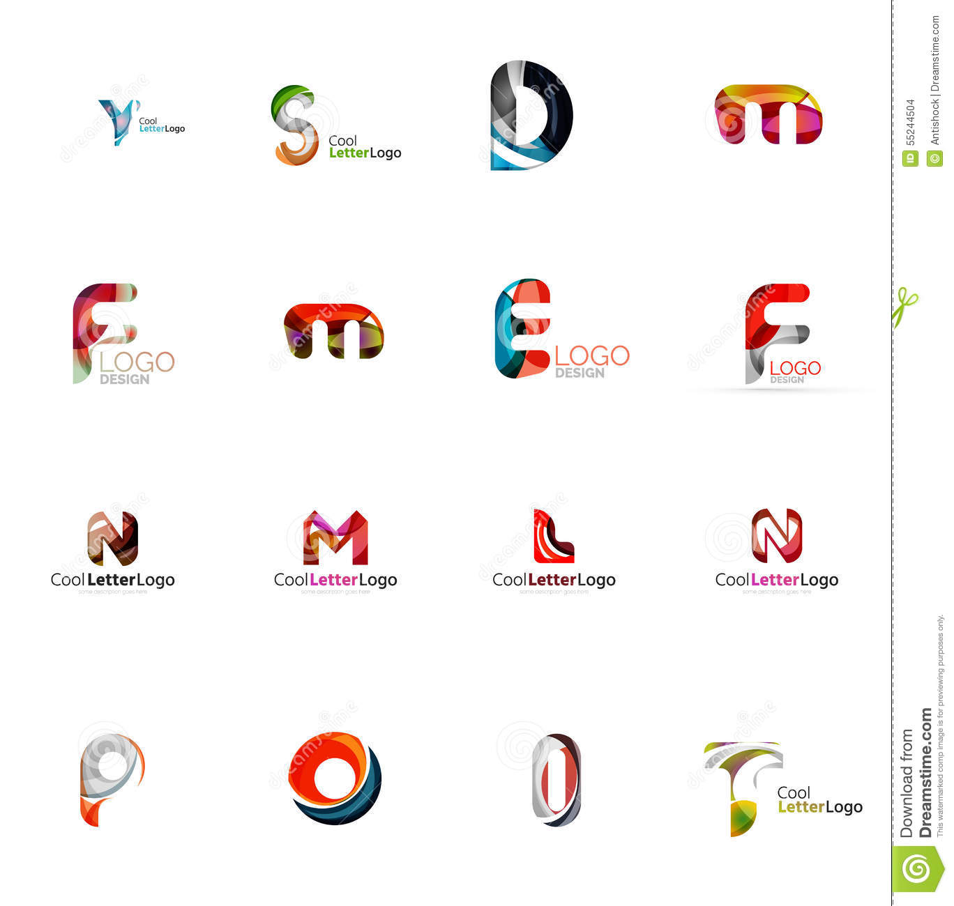 Set Of Universal Company Logo Ideas Business Icon Stock