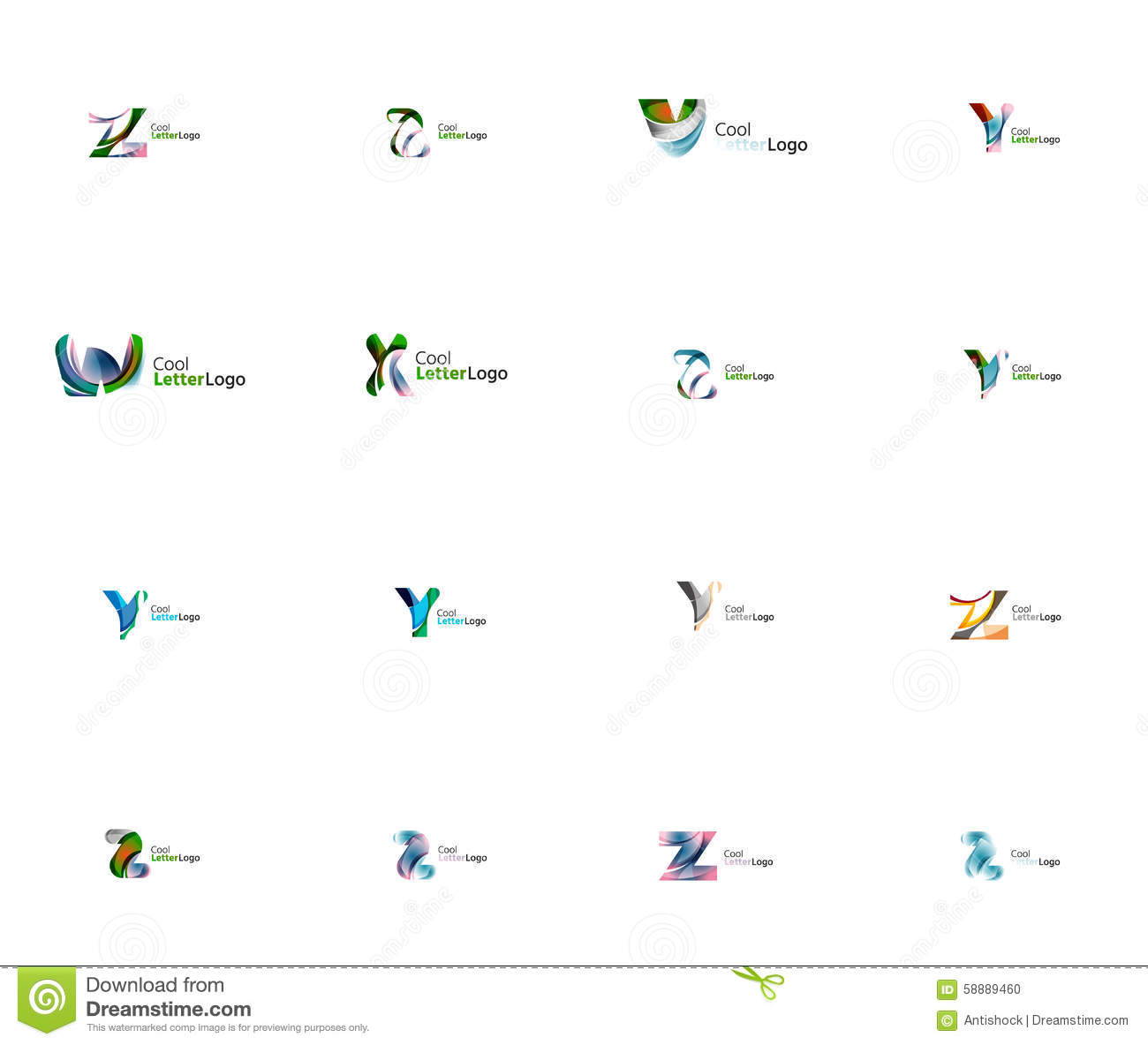 Set Of Universal Company Logo Ideas Business Icon Stock Vector