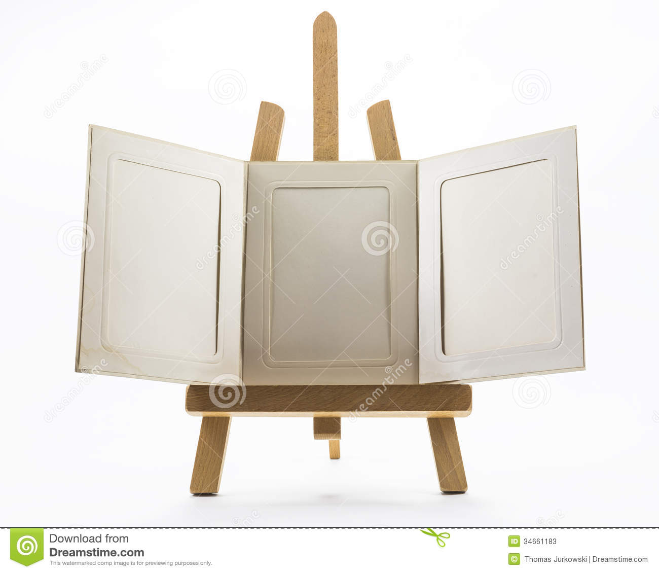 Set up easels stock image. Image of bright, empty, frame - 34661183
