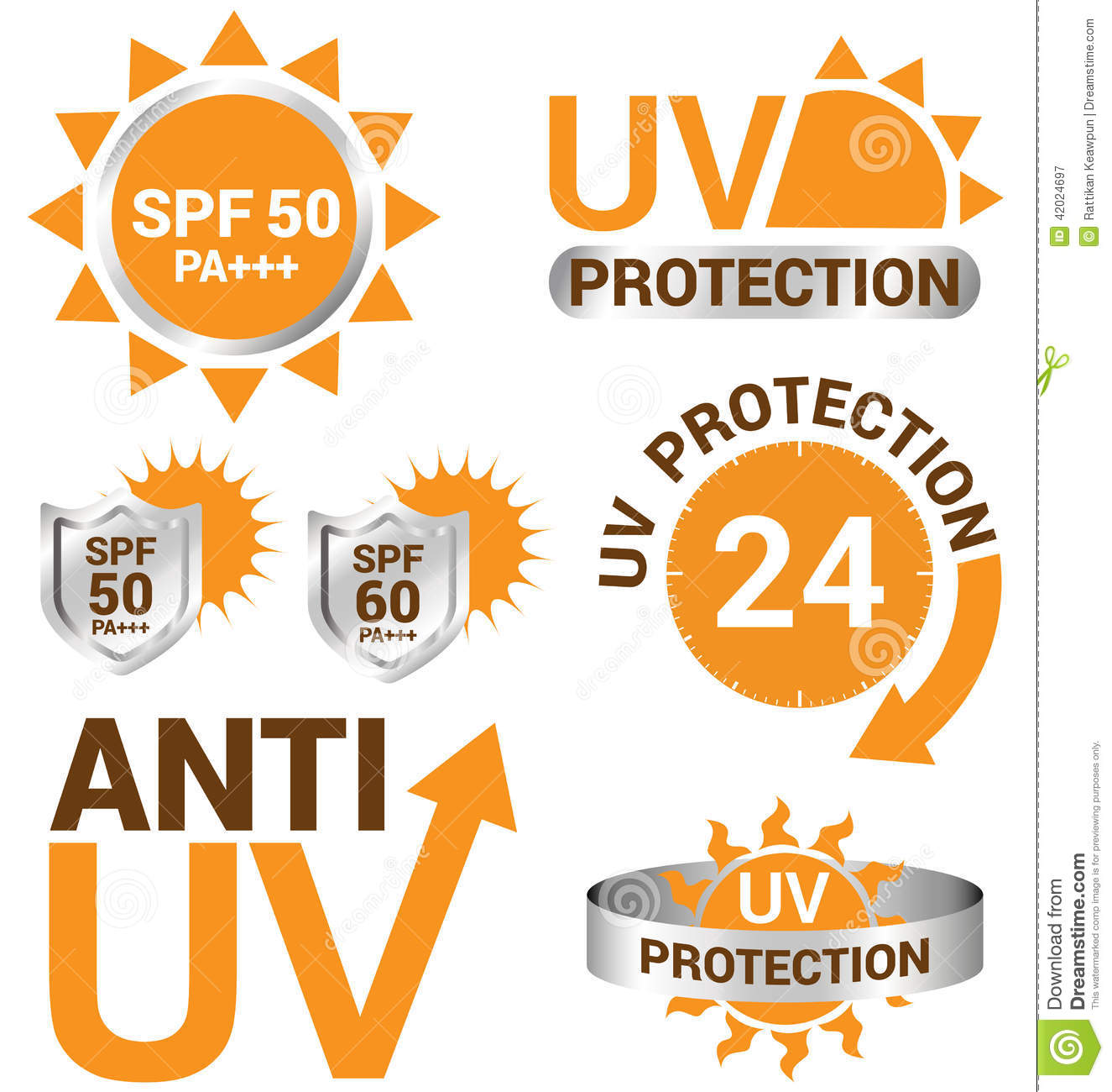 set of uv sun protection and anti uv stock vector image 42024697. Black Bedroom Furniture Sets. Home Design Ideas