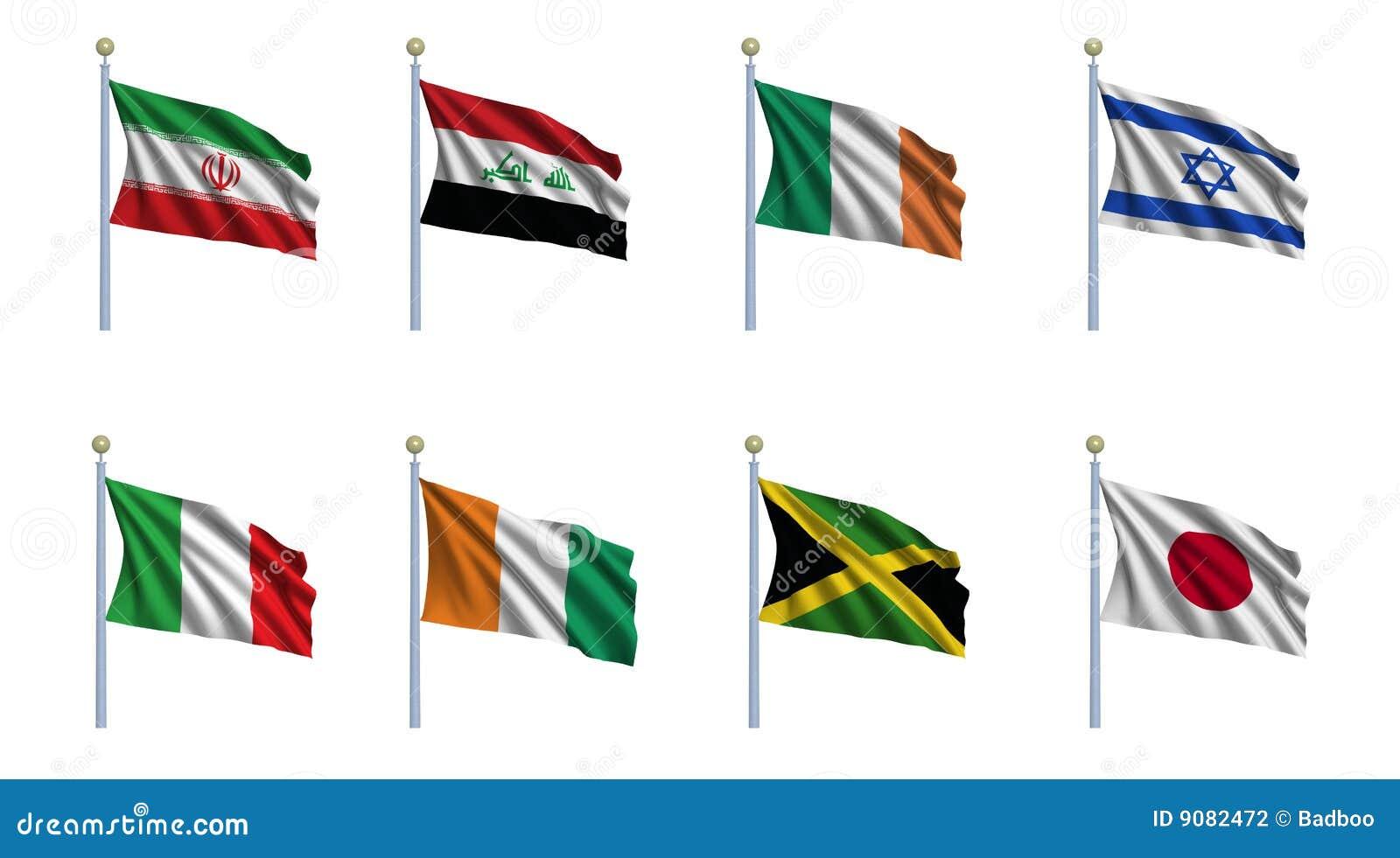 Set värld för 11 flagga