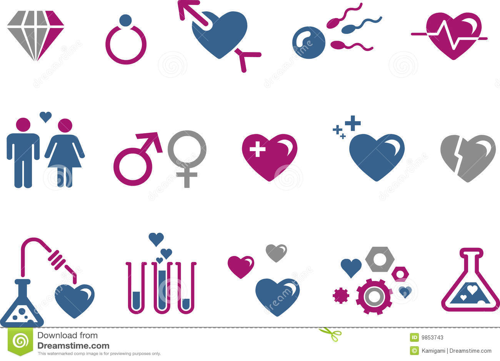 Set valentin för dagsymbol s