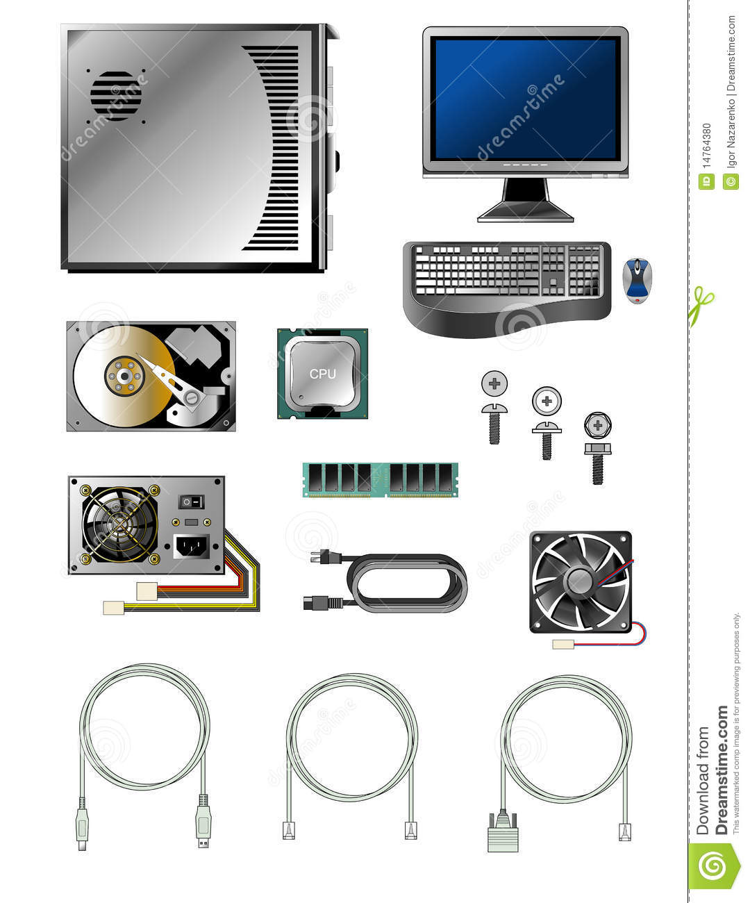 computer systems and various parts Different parts of the computer and their function different parts of the computer and their function march 31, 2015 by: contributing writer  and making it usable to your operating system though it's simply a single chip, the processor's speed determines the overall speed of your computer the cpu contains a control unit and the.