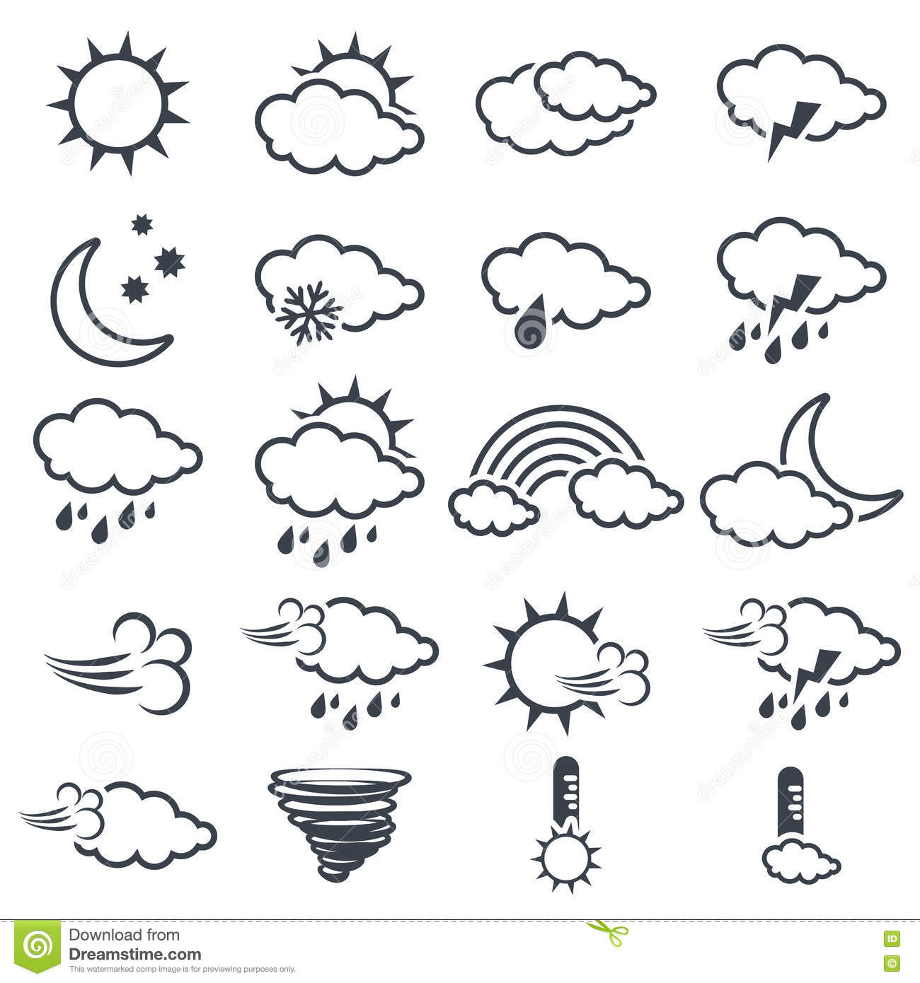 Weather symbols wind
