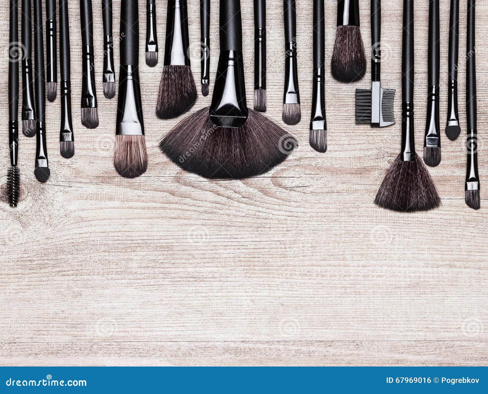 Various Makeup Brushes Royalty Free Stock Image