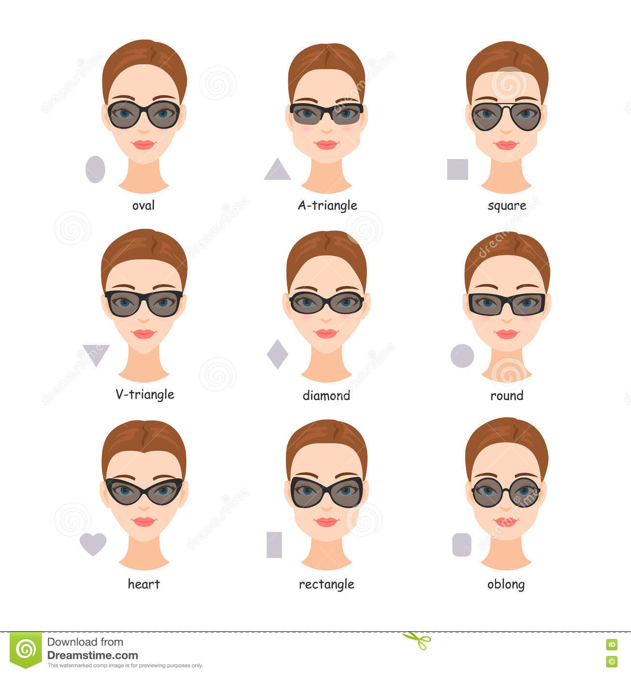 750f04ccb84 Set Of Various Types Of Sunglasses. Stock Vector - Illustration of ...