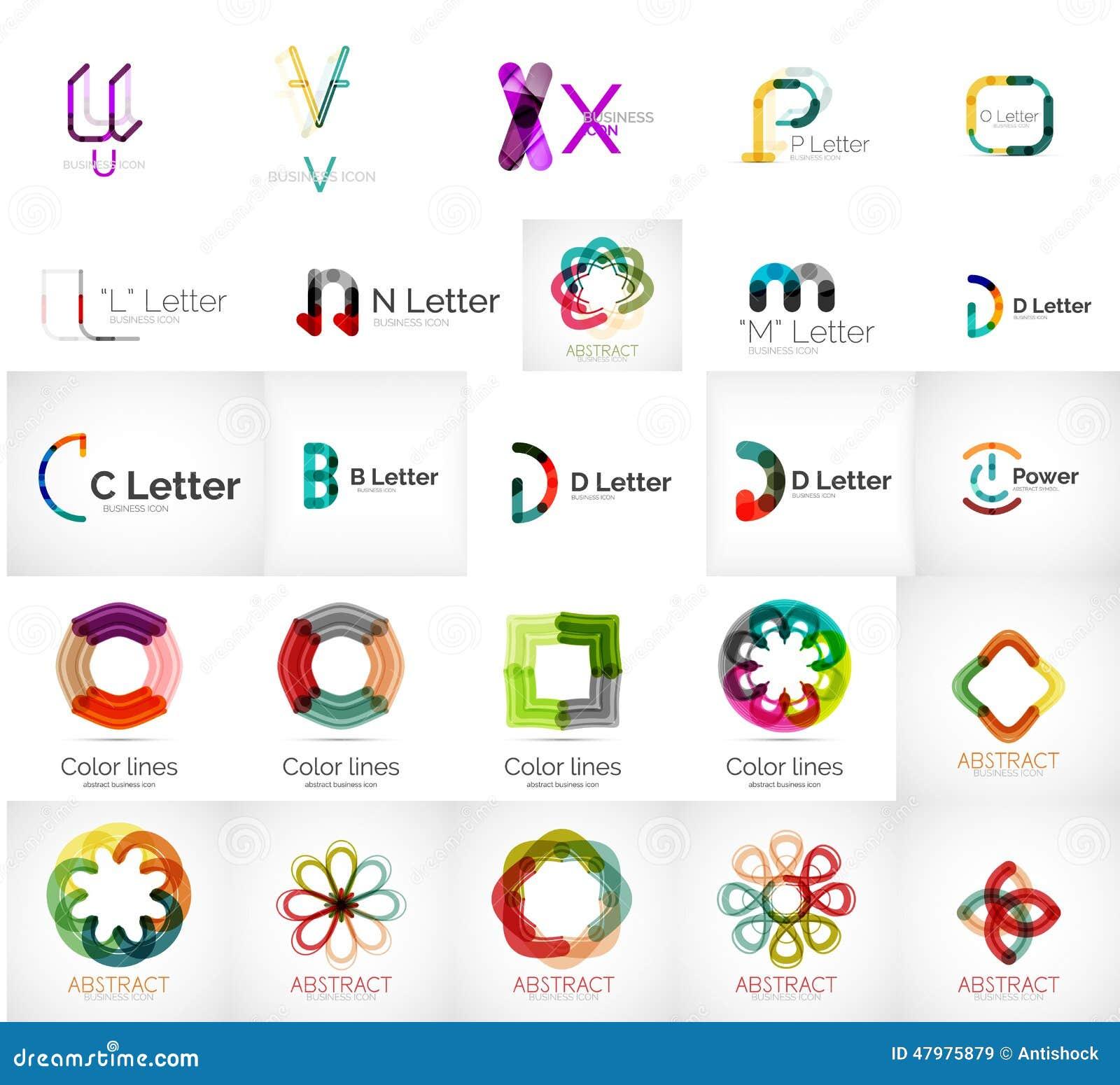 Set Of Various Universal Company Logos Stock Vector