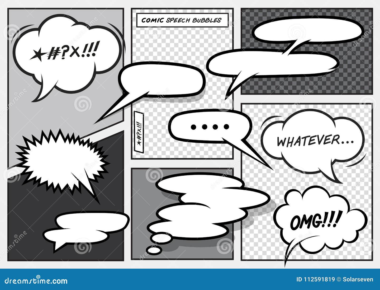 Cartoon Comic Speech Bubbles