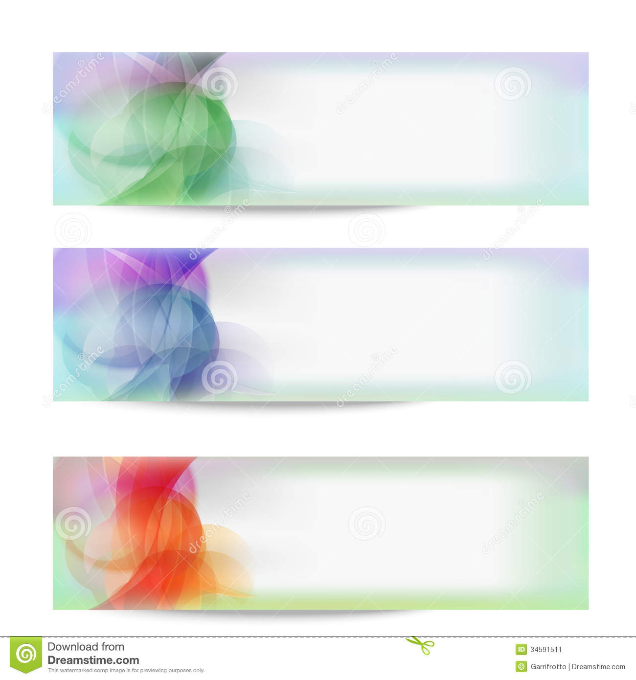 Set vector abstract banner