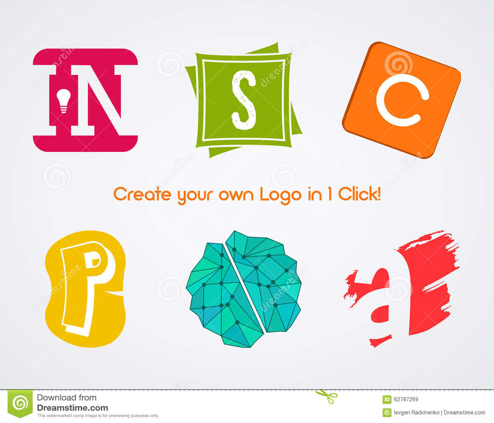 Set of vector abstract creative logo design stock vector for Draw my own logo