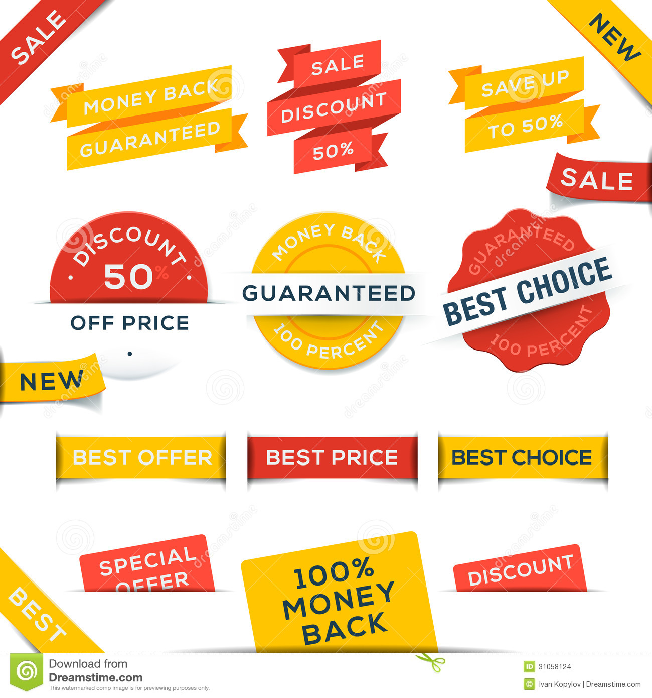 Set Of Vector Badges And Stickers Stock Vector ...