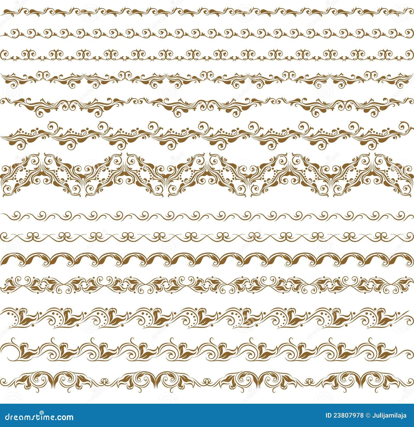 Set Of Vector Borders, Decorative Elements Royalty Free Stock ...