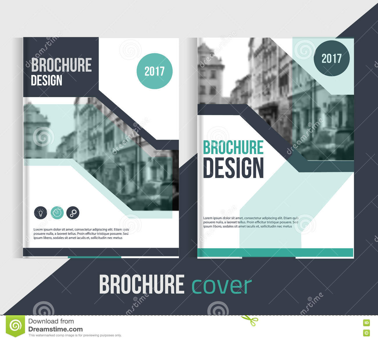 Business Book Cover Photo ~ Blue annual report design templates vector set leaflet