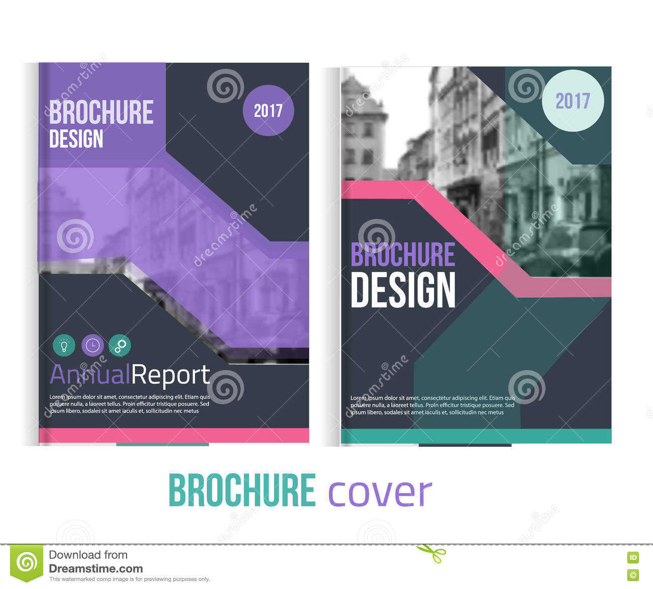 Business Book Cover Names ~ Blue annual report design templates vector set leaflet