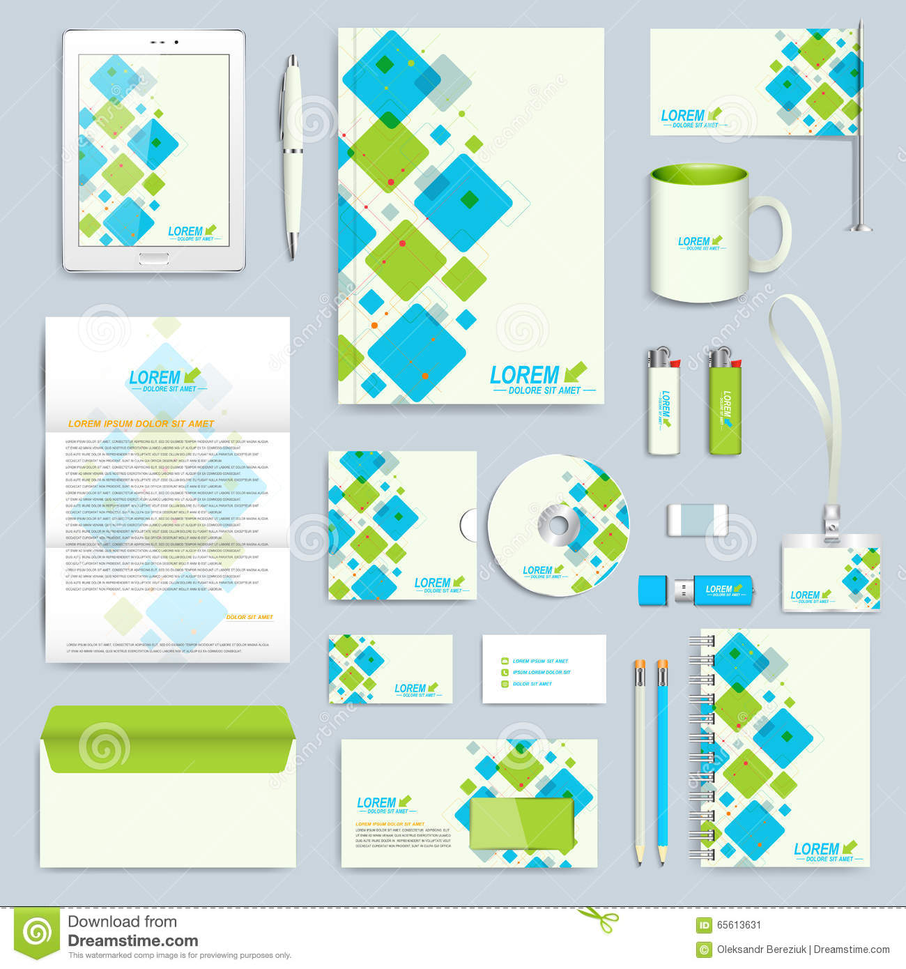 Blank Stationery And Corporate Identity Template Consist: Set Of Vector Corporate Identity Template. Modern Business