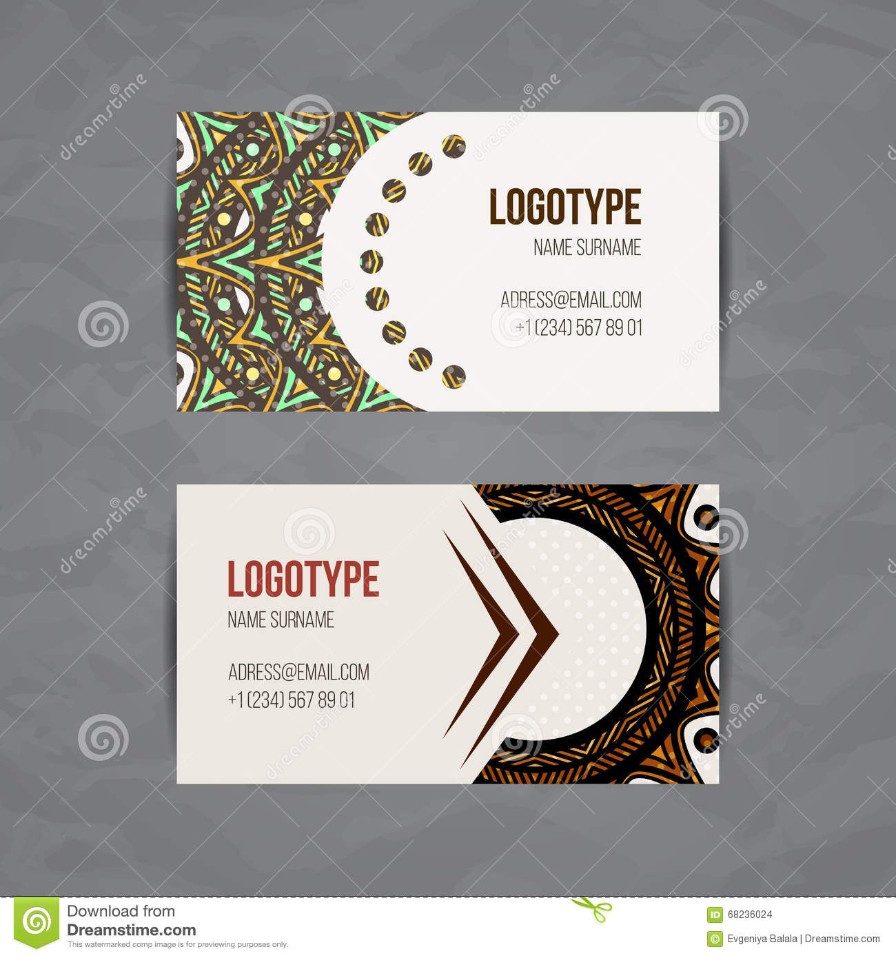 Set of vector design templates business card with floral circle set of vector design templates business card with floral circle ornament mandala style mystical decorate reheart Choice Image