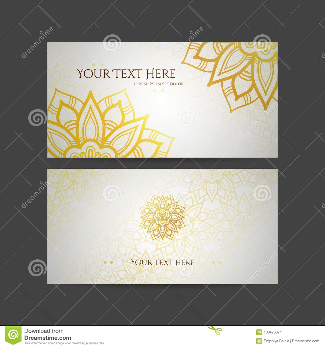 Set of vector design templates business card with floral circle download set of vector design templates business card with floral circle ornament mandala style accmission Image collections