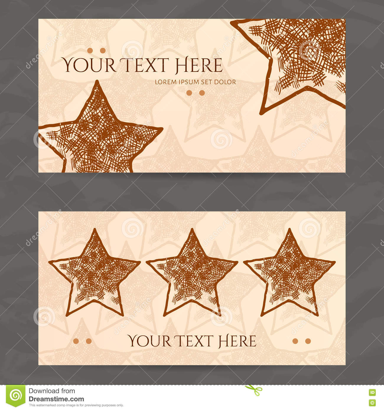 Set of vector design templates business card with star element business card with star element hipster style download comp reheart Choice Image
