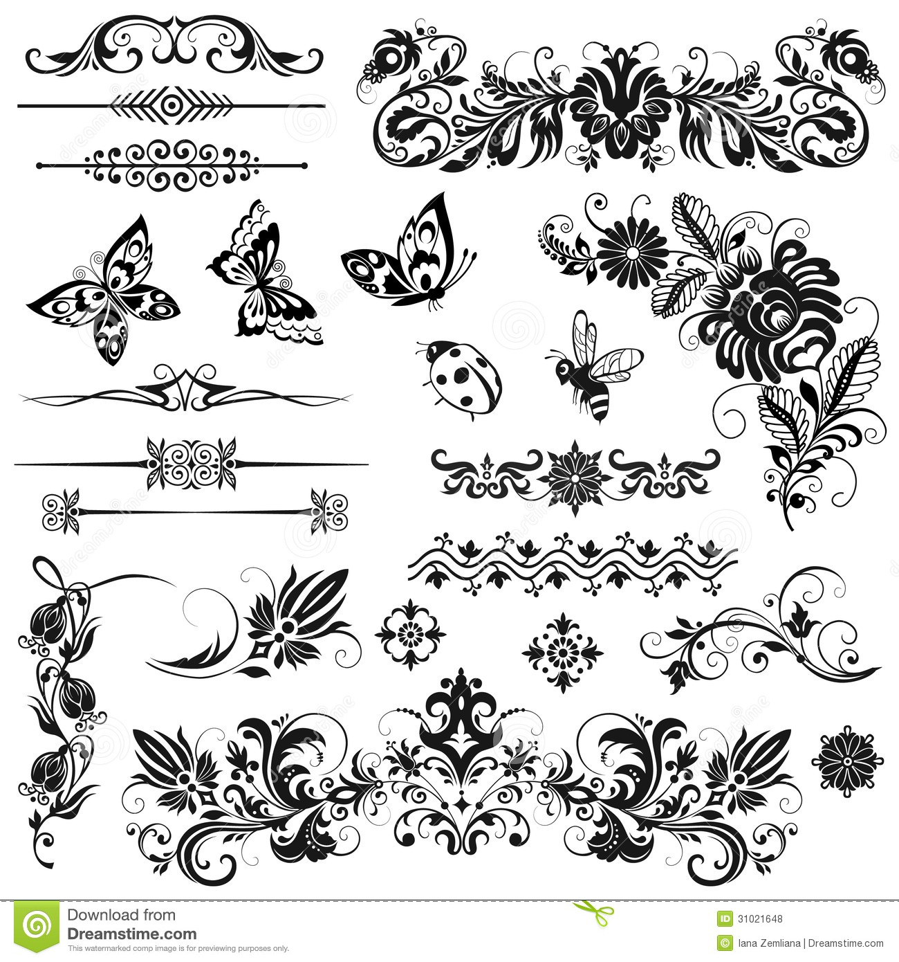 Elements For Design : Set of vector graphic elements royalty free stock photos