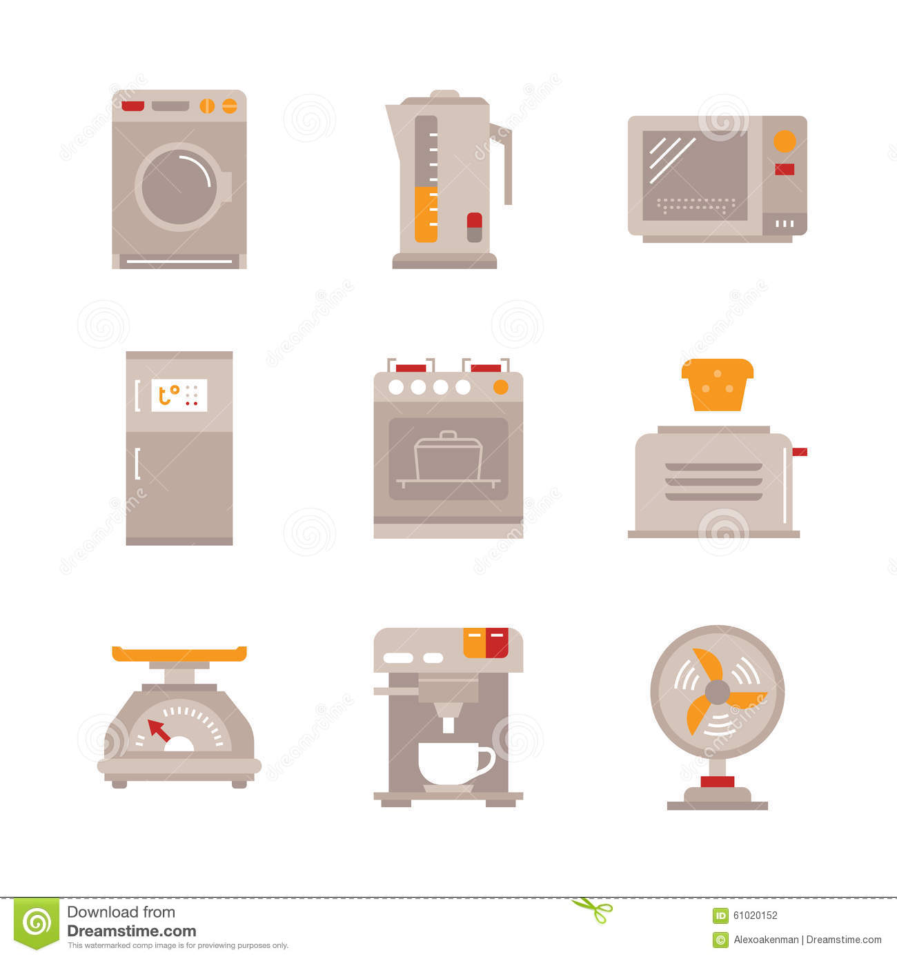Vector line household appliances icon set design vector for Household appliances design