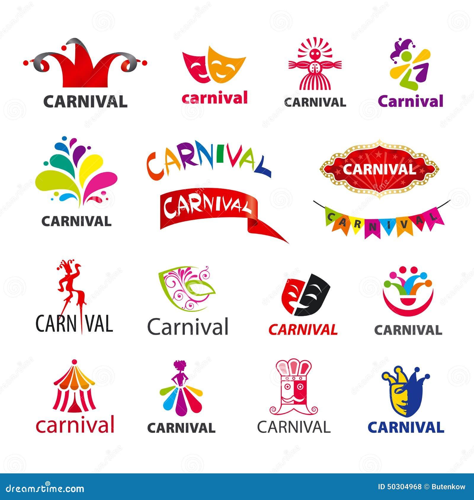Set of vector logos carnival