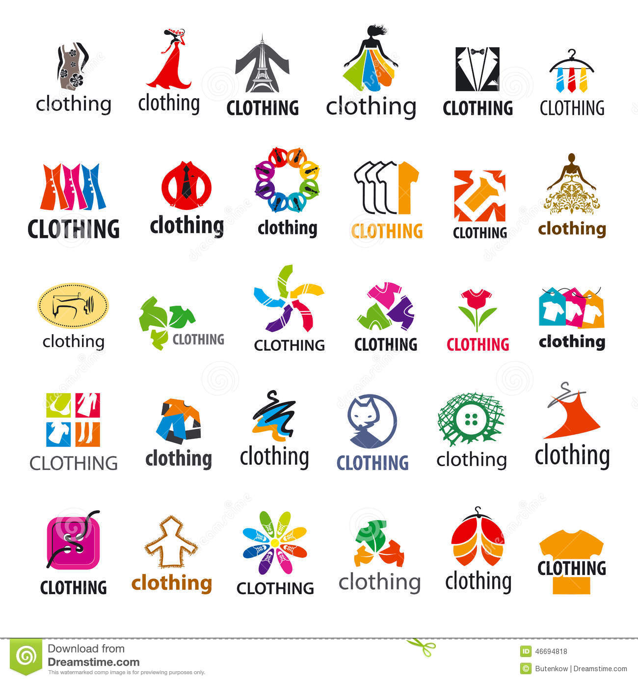 set of vector logos clothing stock vector image 46694818