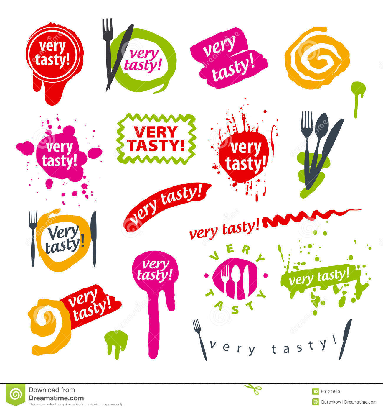 Set Of Vector Logos For Food Stock Image 50121660