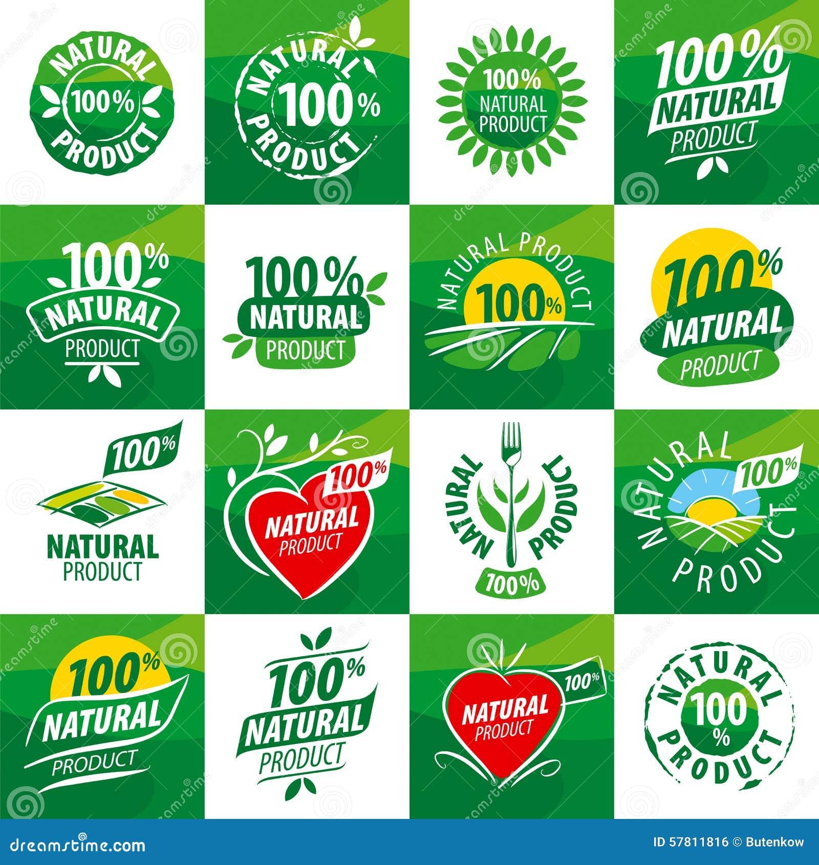 logos natural vector leaf illustration preview