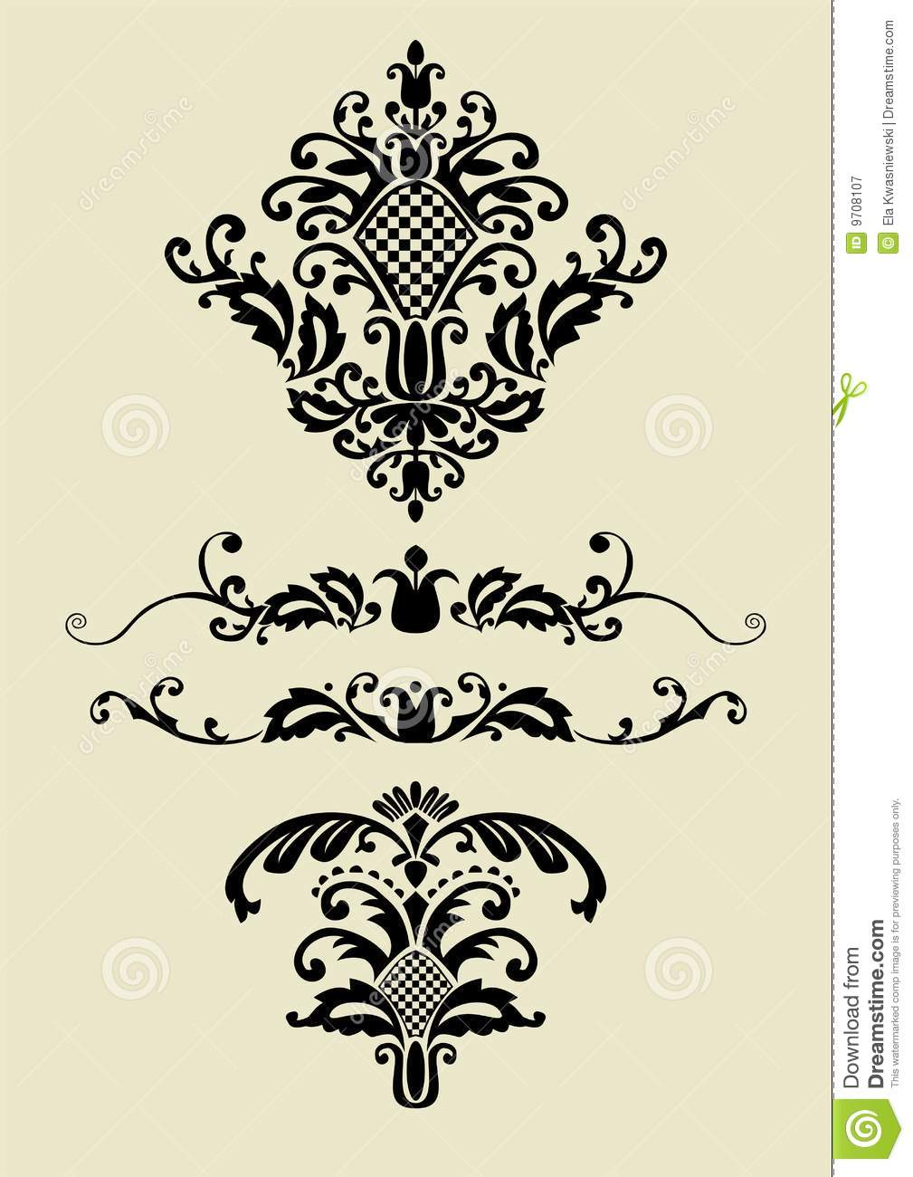 Set Of Vector Ornaments For Design Stock Vector Image