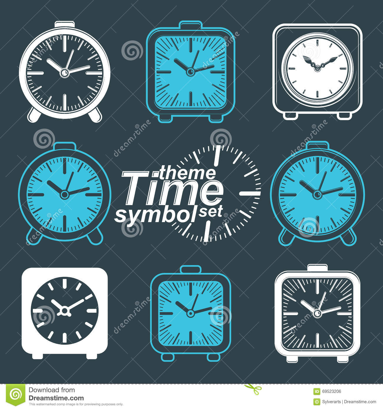Wooden Drink Coaster Time And Clocks Theme Background Stock Photography