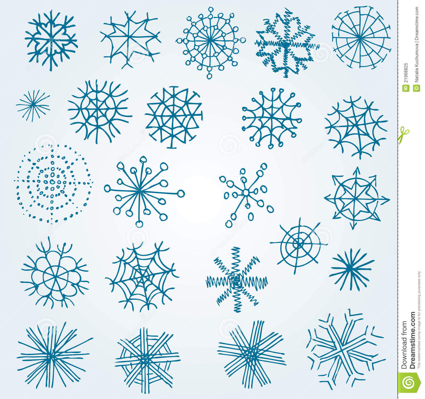 Set of vector snowflakes stock vector image of cool 21968825 - Flocon dessin ...