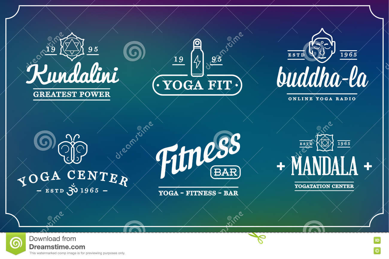 Set Of Vector Yoga Zen Sport Elements And Fitness Healthy Illustration Can Be Used As Logo Or Icon In Premium Quality Stock Vector Illustration Of Meditation Collection 81114306