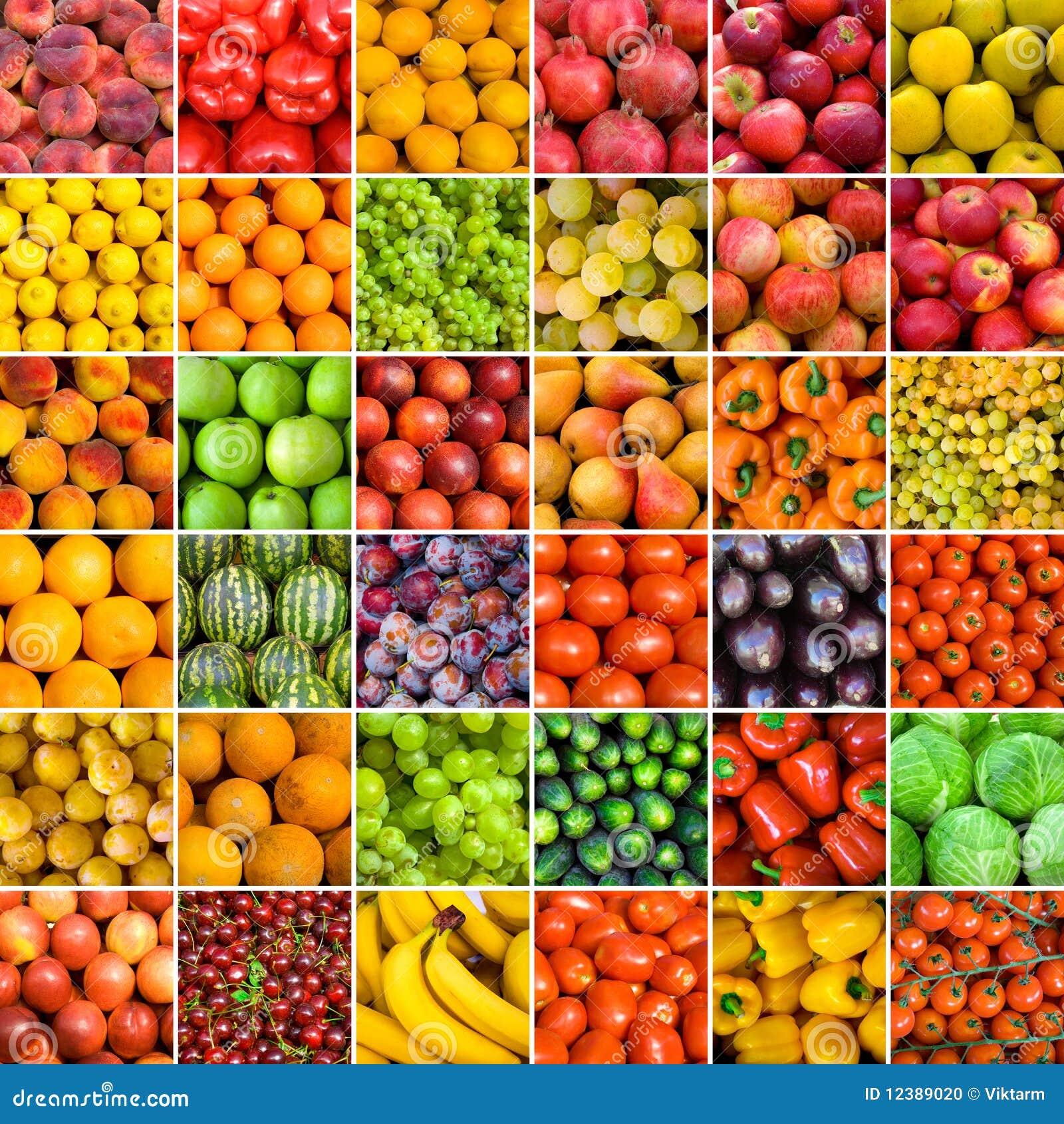 Set of vegetable backgrounds