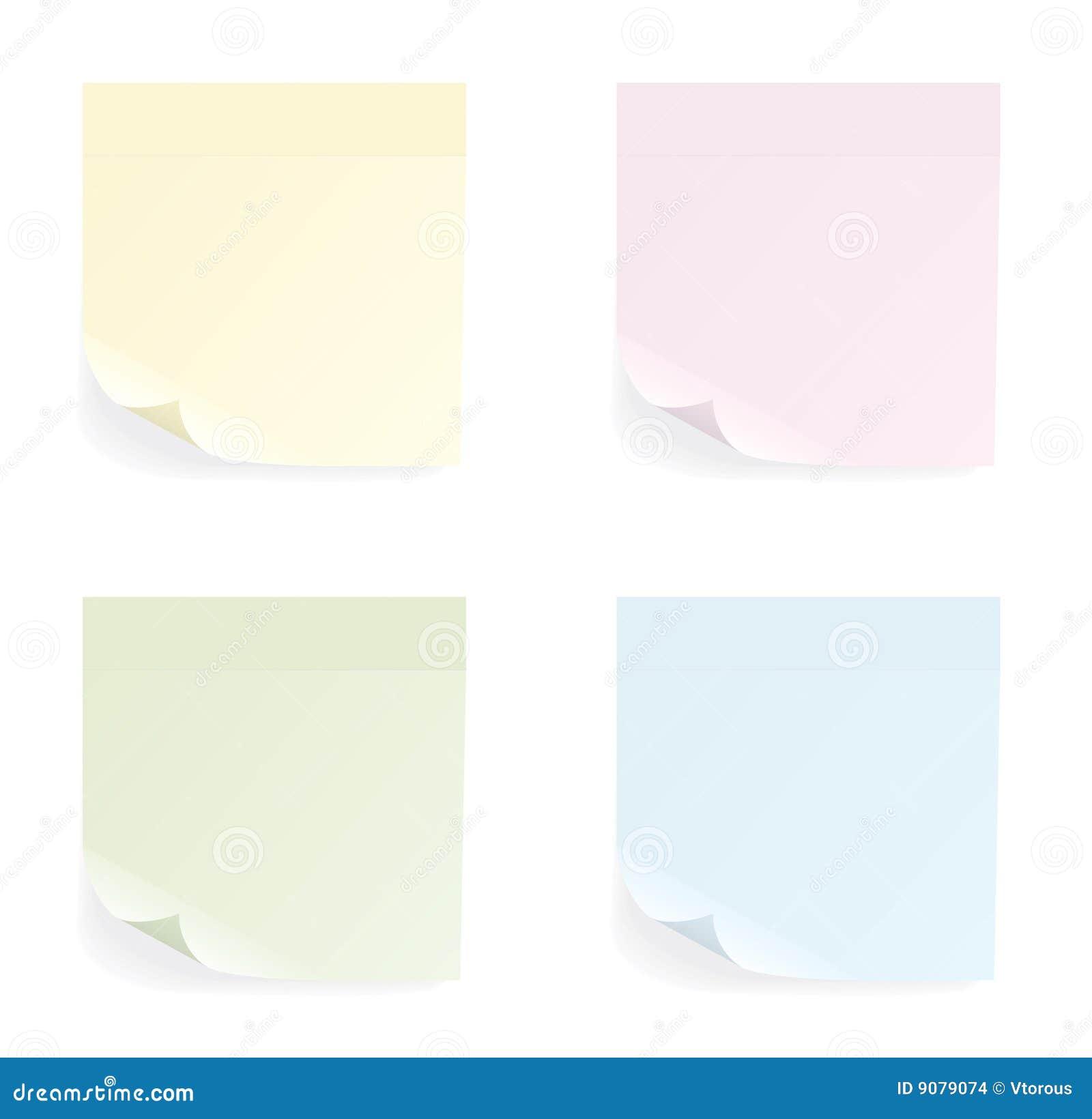 Set verschiedene Farbenaufkleber